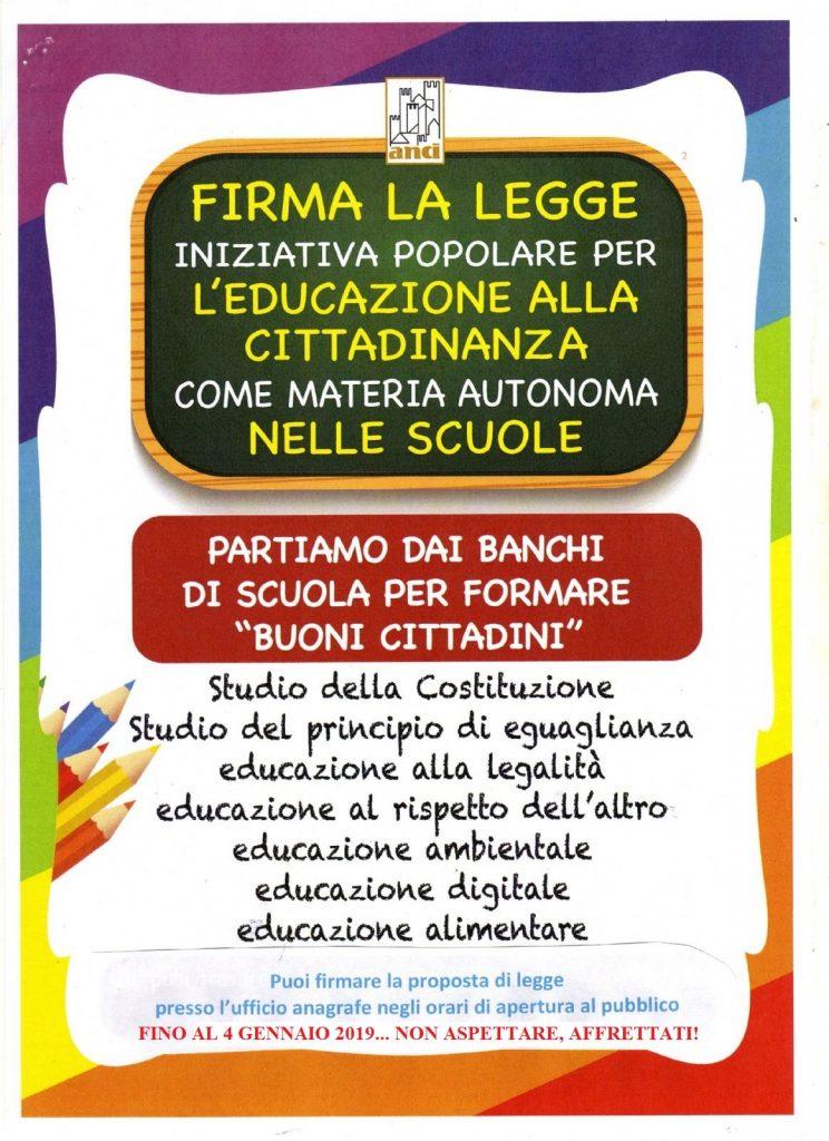 Legge sull'Educazione Civica nelle scuole